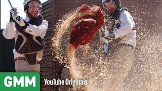 Destroying A Scarecrow in a Wood Chipper | What Was This?