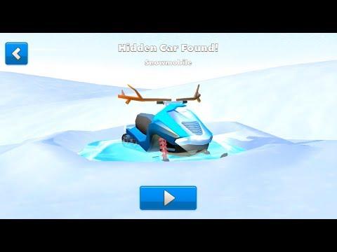 Crash of Cars Hidden Winterland Snowmobile Car Found !!