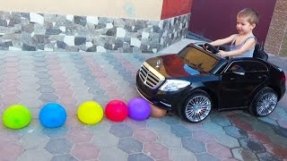 Learn Color Mercedes S Class Spiderman Cars Cartoon For Kids & Colors for Children Songs