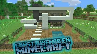 Como hacer una casa en minecraft para survival | Modern house minecraft tutorial