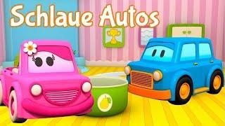 Lern auf dem Schlaue Autos Spielplatz. Zeichentrickfilme für Kinder