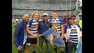 DHL WP Western Province Currie Cup Champs 2017 welcomed at CT International Airport today!