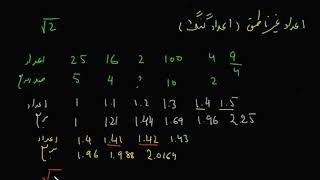 ریاضی صنف هشت (فصل اول، درس اول) مفهوم اعداد حقیقی