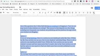 How to quickly clear formatting in Google Docs