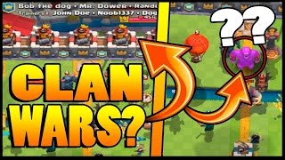 Clash Royale - CLAN WARS AND NEW CARD?