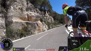 120 Minute Garmin Uphill Indoor Cycling Training Catalonia Spain 4K Uncut Part 1