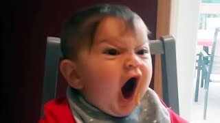 HILARIOUS BABIES and TODDLERS Trying To get ANGRY FACE - Lots of LAUGH GUARANTEED