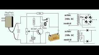 12v battery charger circuit with auto cut off