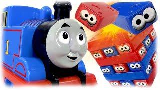 Thomas the Train Playing the Board Game Jenga