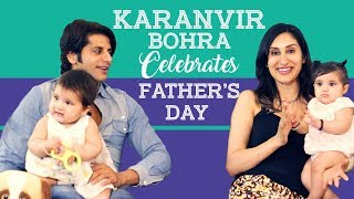 Karanvir Bohra and his twin baby girls celebrate Father's Day   TV Interview   Pinkvilla