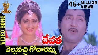 Velluvachi Godaramma Video Song | Devatha Telugu Movie Songs | Shobhan Babu | Sridevi | Jaya Prada