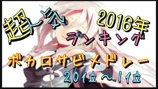 【ボカロ】カラオケランキンクBEST20! サビ曲メドレー 2016