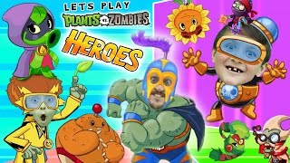 Lets Play PVZ HEROES w/ Mike, Lex and Duddy (NEW! Plants vs. Zombies Mobile Super Hero Card Game)