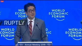 LIVE: World Economic Forum 2019: Shinzo Abe special address