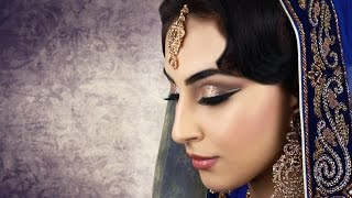 Cut Crease with Glitter Asian Bridal Makeup