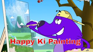 Pyaar Mohabbat Happy Lucky -  A  Happy Ki Painting - Popular Kids Hindi Cartoon - Epi - 44
