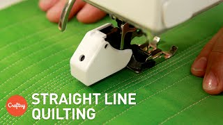 Easiest Method for Straight Line Quilting | Machine Quilting Tutorial with Jacquie Gering