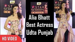 Alia Bhatt - Best Actress & Star Plus Ki Nai Soch Award | Udta Punjab | Star Screen Awards 2016