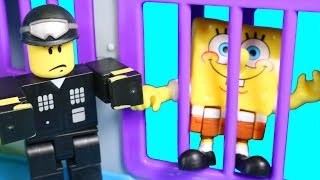 Imaginext Spongebob SquarePants Goes To Roblox Jail With Glove World Patrick Pretend Play