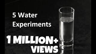 5 Water Experiments To Do At Home