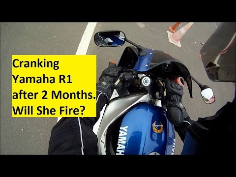Cranking Yamaha R1 after 2 Months. Will She Fire?