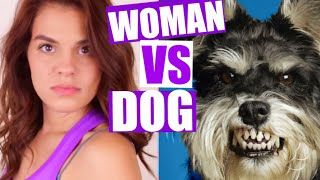 WOMAN vs. DOG