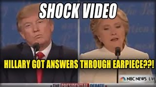WATCH: HILLARY CAUGHT GETTING ANSWERS THROUGH HER EARPIECE AT THE FINAL DEBATE