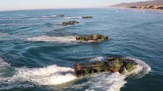 Beach Landing in Amphibious Assault Vehicles