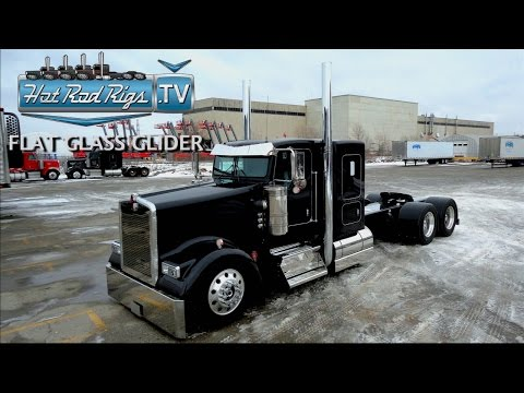 FLAT GLASS KENWORTH W900 FULLY LOADED WITH C 15 POWER BUILT BY THE BEST HOT ROD RIGS TV