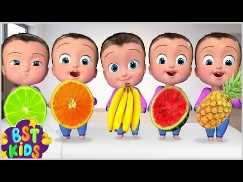 Fruits Song | Five Little Babies |+More BST Kids Songs & Nursery Rhymes
