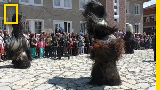 See the Intricate Costumes of Bulgaria's Kukeri Dancers   National Geographic