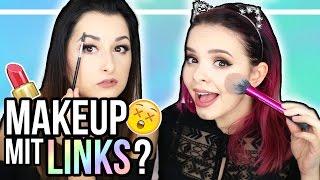 Ganzes Makeup mit der LINKEN Hand?! - Opposite Hand Makeup Challenge - mit LAURA!! ❤