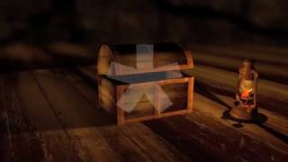 Treasure Chest Opening To Green Screen - Free Footage