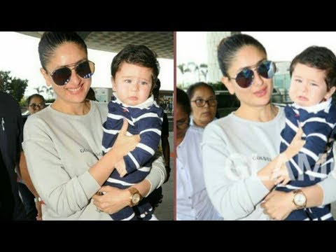 Taimur Ali Khan looks Adorable with Mommy Kareena Kapoor Khan|Recently spotted !