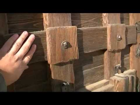 Двери под старину из дерева своими руками видео