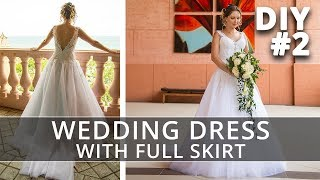 Sewing a Crinoline Petticoat | How to make a Wedding Dress with straps and full skirt