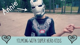 Behind the Scenes Filming Super Hero Kids | Civil War Trailer
