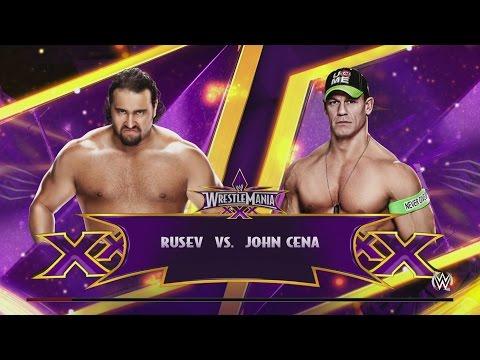 WWE 2K15 - Rusev vs. John Cena WrestleMania XXX Arena