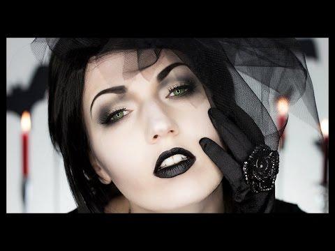Black Widow Victorian Ghost Halloween Makeup