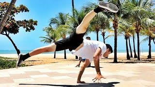 B.boy JonasFlex e Invictus BREAKDANCE IN BEACH 2015 AWESOME PEOPLE