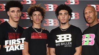First Take debates impact LiAngelo Ball arrest has on Big Baller Brand | First Take | ESPN
