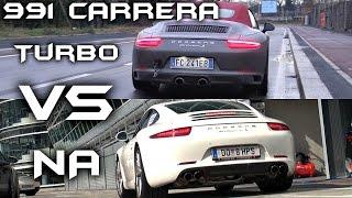 Porsche 991 Carrera 3.0 TURBO VS. 3.8 NATURALLY ASPIRATED - Sound Comparison!