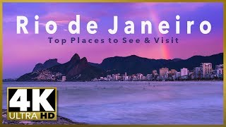 RIO DE JANEIRO Top Tourist Destinations, 4K Ultra HD Stock Video Footage