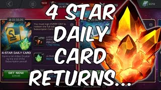 4 Star Daily Card Returns... - My Thoughts - Marvel Contest Of Champions