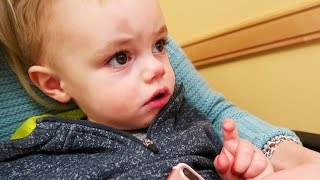 Testing Baby Calvin For Diabetes