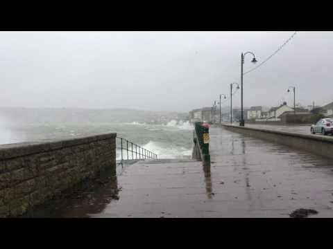 Cornwall Hit By Second Day Of Storms - Penzance