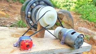 How to make 100% free energy generator without battery with the help of bearings | home invention.