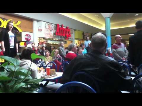 Christmas Food Court Flash Mob Hallelujah Chorus Must See