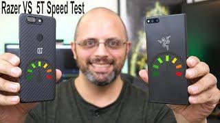 The @Razer Phone Speed Test VS @oneplus 5T(App Loading & Ram Management Test)