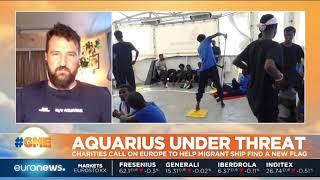 Charities call on Europe to help migrant ship Aquariu